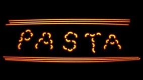 Neonteigwaren lizenzfreie stockbilder