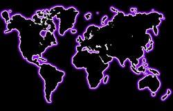 Neonwelt stock abbildung