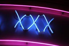 Neonzeichen XXX Lizenzfreies Stockfoto