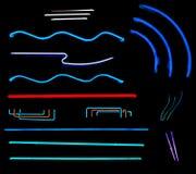 Neonzeilen Stockbild