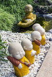 Neophyte. The Sculpture of novice in asia thailand Stock Photo