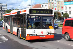 Neoplan bus in Gdansk Stock Photos