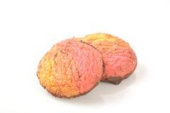 Neopolitan swirl cookies Stock Photo