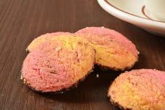 Neopolitan swirl cookies Royalty Free Stock Photos