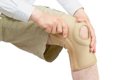 Neoprene knee brace. Stock Image