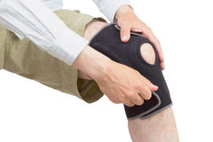 Neoprene knee brace. Royalty Free Stock Photo