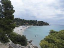 Neos Marmaras beach, Sithonia, Greece Royalty Free Stock Image