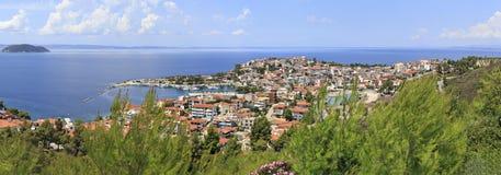 Neos Marmaras. Beautiful town on the Sithonia peninsula Royalty Free Stock Image