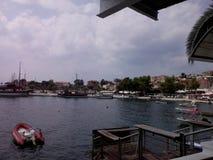 neos marmaras Greece port Obraz Royalty Free