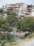 Neos Marmaras village, Sithonia, Greece Royalty Free Stock Image