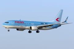 Neos 737 sur des finales Photo libre de droits