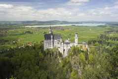 Neoschvanstein Castle, view from above. Stock Images