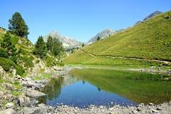 Neouvielle全国自然保护,Lac de Bastan,法国比利牛斯 图库摄影