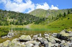 Neouvielle全国自然保护,Lac de Bastan inferieur,法国比利牛斯 库存图片