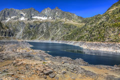 The Neouvielle Peak and The Lake Cap-de-Long Royalty Free Stock Photography
