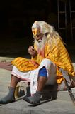 Nepal 2011, sadhus at a temple Royalty Free Stock Image