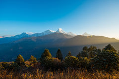 Free Nepal - 26 December 2016 :: Poon Hill View Point For See Snow Mo Royalty Free Stock Photography - 85095467