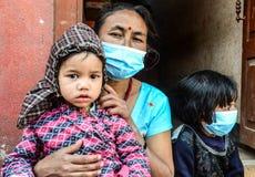 Nepal-aardbeving-2015 Stock Afbeeldingen