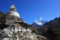 Nepal Ama Dablam Royalty Free Stock Photography