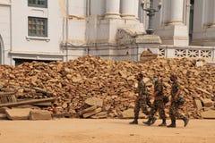 Nepal Army Guards Durbar Square Kathmandu Nepal Royalty Free Stock Images