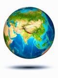 Nepal auf Erde mit weißem Hintergrund Lizenzfreie Stockfotos