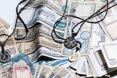 Nepal błyskotka z rupia pieniądze Obraz Royalty Free