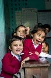 Nepal barn på skolan Royaltyfria Foton