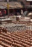 Nepal, Bhaktapur, Potters' kwadrat Obraz Royalty Free