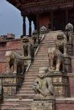 Nepal, Bhaktapur, templo de Nyatapola no quadrado de Taumadhi fotos de stock