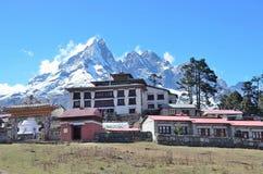 Nepal, buddyjski monaster w Tenboche w Himalayes Zdjęcie Royalty Free