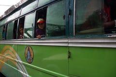 Nepal buss Fotografering för Bildbyråer