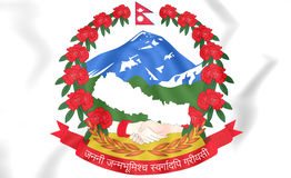 Nepal coat of arms Stock Image
