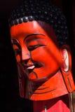 Nepal czerwieni Pamiątkarskie drewniane maski Fotografia Stock