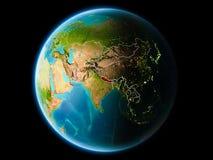 Nepal in de avond Royalty-vrije Stock Foto's
