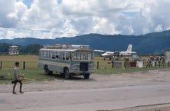 Nepal. De luchthaven van Pokhara. Stock Foto