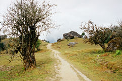 Nepal, de weg. Royalty-vrije Stock Afbeelding