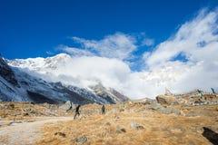 Nepal - 31 December 2016 :: beautiful view on top of Annapurna B Stock Photo