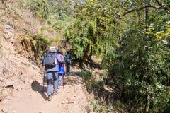 Nepal - 28 December 2016 :: Hiking to Himalaya mountain in Nepal Stock Photography