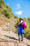 Nepal - 28 December 2016 :: Hiking to Himalaya mountain in Nepal Royalty Free Stock Images