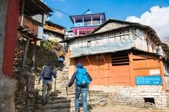 Nepal - 25 December 2016 :: Hiking to Himalaya mountain in Nepal Stock Image