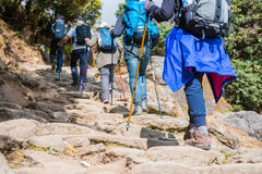 Nepal - 25 December 2016 :: Hiking to Himalaya mountain in Nepal Royalty Free Stock Photo