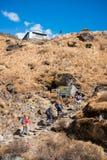 Nepal - 30 December 2016 :: Hiking to Himalaya mountain in Nepal Stock Image
