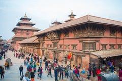 Nepal - 23 December 2016:: Patan Durbar fyrkant - världsarv fotografering för bildbyråer