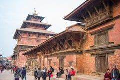 Nepal - 23 December 2016:: Patan Durbar fyrkant - världsarv royaltyfri foto