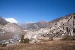 Nepal-Dorf stockbilder
