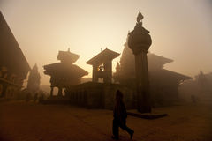 Nepal duba square. Duba square is the most famous square in Kathmandu, Nepal is also watch temple architecture of good places. Here include Nepal the sixteenth Royalty Free Stock Photo