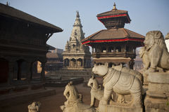 Nepal duba square. Duba square is the most famous square in Kathmandu, Nepal is also watch temple architecture of good places. Here include Nepal the sixteenth Royalty Free Stock Images