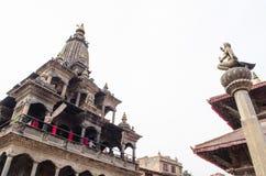 Nepal Durbar kwadrat jeden główni widoki Kathmand zdjęcia royalty free