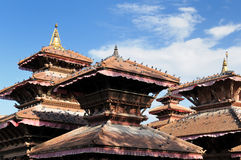 Nepal - Durbar Sqaure em Kathmandu Foto de Stock
