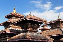 Nepal - Durbar Sqaure in Katmandu Stock Foto